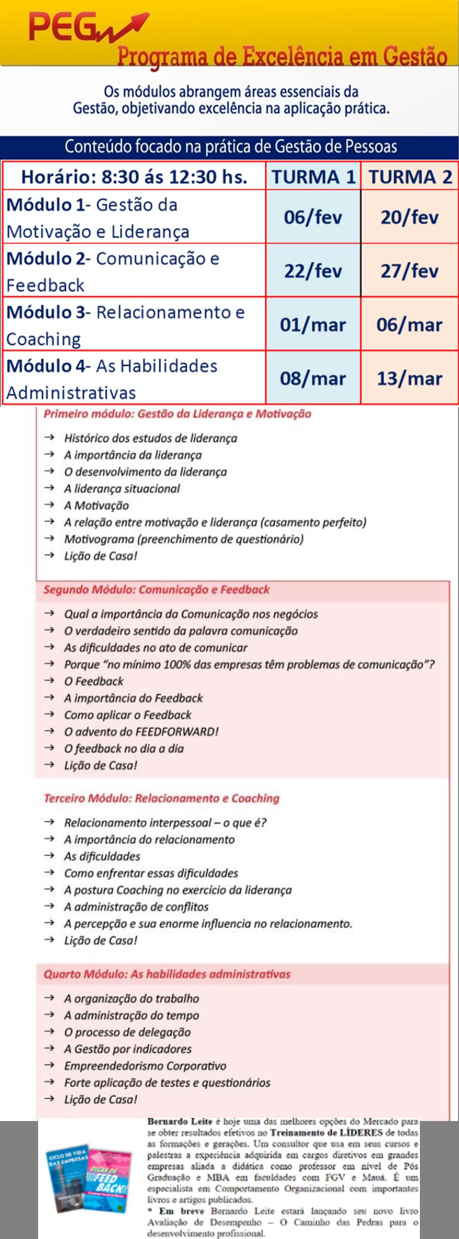PROGRAMA DE EXCELÊNCIA EM GESTÃO