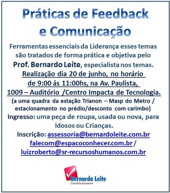 PRÁTICAS DE FEEDBACK & COMUNICAÇÃO