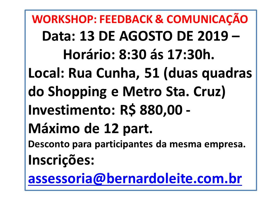 WORKSHOP FEEDBACK & COMUNICAÇÃO